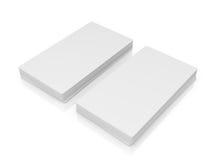 Sterta białe wizytówki Zdjęcie Stock