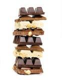 Sterta biel, mleko i zmrok czekolada, Zdjęcia Royalty Free