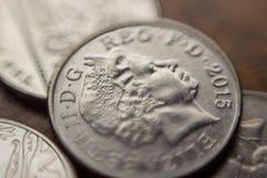 Sterta Brytyjski 10 pensa moneta obrazy royalty free
