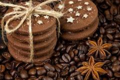 Sterta ciastka i anyż gwiazdy Zdjęcia Stock