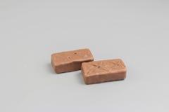 Sterta ciemni czekolada kawałki na tle Obraz Royalty Free