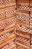Sterta Czerwone cegły Fotografia Stock