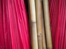 Sterta czerwony parasol Obraz Stock