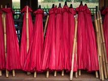 Sterta czerwony parasol Fotografia Royalty Free