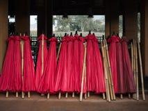 Sterta czerwony parasol Zdjęcie Royalty Free