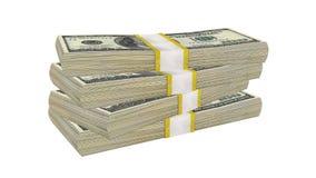 Sterta 100 dolarów banknotu rachunku usa pieniądze banknotu na białym tle obraz royalty free