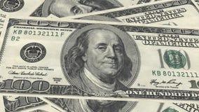 Sterta 100 dolarów banknotu rachunku usa pieniądze banknotu na białym tle fotografia stock