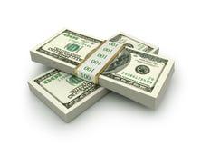 Sterta $100 dolarów rachunków Obraz Stock