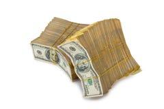 Sterta dolary w biznesowym pojęciu odizolowywającym Zdjęcia Royalty Free