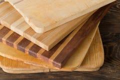 Sterta drewniane rozcięcia lub ciapania deski Zdjęcia Royalty Free