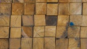 Sterta drewniani kwadratowi bloki Zdjęcia Royalty Free