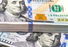 Sterta dziesięcia tysięcy amerykanina dolary Zdjęcie Stock