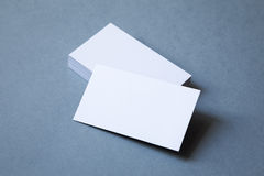 Sterta gęstych wizytówek odgórny widok Fotografia Stock