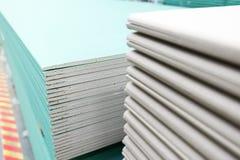 Sterta gipsowej deski narządzanie dla budowy Obraz Royalty Free