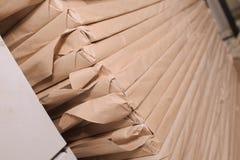 Sterta grafika papier w opakunkowym, przemysłowym tle, w fotografia stock