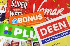 Sterta Holenderskie sklepu spożywczego sklepu sprzedaży ulotki obrazy royalty free