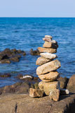 Sterta kamienie na seacoast Zdjęcia Royalty Free