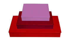 Sterta Kolorowi pudełka Zdjęcia Stock