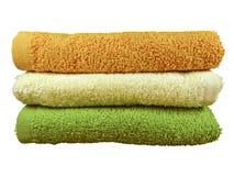Sterta kolorowi zdrojów ręczniki Obraz Royalty Free