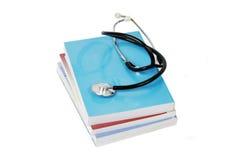 Sterta książki i stetoskop Zdjęcia Stock