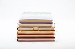 Sterta książki z szkłami Zdjęcie Royalty Free