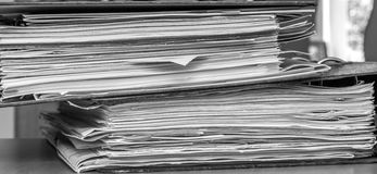 Sterta papierowi segregatory Obrazy Stock