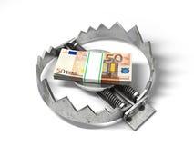 Sterta pieniądze w niedźwiadkowym metalu oklepu Fotografia Stock