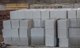 Sterta precast zbrojone betonowe płyty w budynek fabryki warsztacie Zdjęcia Stock