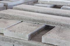 Sterta precast zbrojone betonowe płyty w budynek fabryki warsztacie Obraz Stock