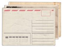 Sterta pusta stara rocznik pocztówka odizolowywająca Zdjęcie Stock