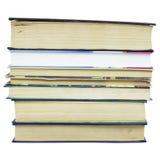 Sterta różne stare książki bez etykietek Fotografia Stock