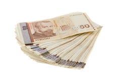 Sterta rachunki, bulgarian pieniądze Bułgarscy waluta banknoty 50 leva, BGN koncepcja finansowania stos pieni?dzy zdjęcia stock