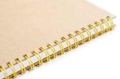 Sterta ringowego segregatoru książkowy lub brown notatnik Zdjęcie Stock