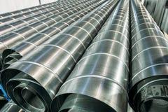 Sterta stali lub metalu drymby jako przemysłowy tło Zdjęcie Royalty Free