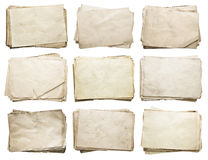 Sterta starzy papiery ustawiający Fotografia Royalty Free