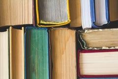 Sterta Używać Stare książki, odgórny widok Zdjęcie Royalty Free