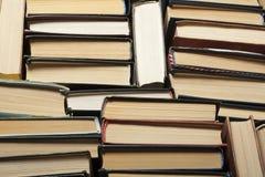 Sterta używać stare książki, odgórny widok Edukaci tło tylna szkoły zdjęcia royalty free