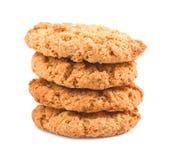 Sterta układ scalony cookieson biały tło Zdjęcia Royalty Free