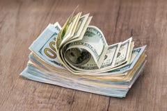 Sterta USA dolary w gotówce zdjęcia stock