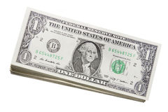 Sterta USA Jeden Dolara Rachunki Zdjęcia Stock
