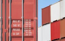 Sterta zbiornik wysyłka przy dockyard Obraz Royalty Free