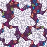 Sterthema die naadloos patroon kleuren Stock Afbeeldingen