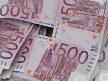 Sterty czerwona niemiec 500 Euro notatek obraz royalty free