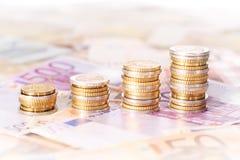 Sterty Euro monety Obraz Royalty Free