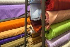 Sterty kolorowe tkaniny Obraz Stock