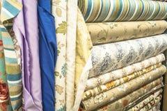 Sterty kolorowe tkaniny Obrazy Royalty Free