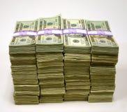 sterty pieniędzy Zdjęcia Stock