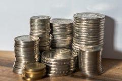 Sterty Szwajcarskiego franka monety Obrazy Royalty Free