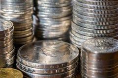 Sterty Szwajcarskiego franka monety Zdjęcia Royalty Free
