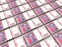 Sterty ukraiński pieniądze Zdjęcie Stock